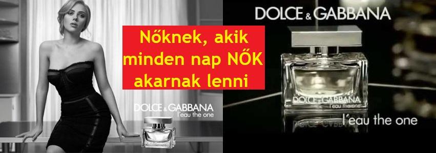 Dolce & Gabbana L'eau The One női parfüm